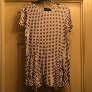 MinkPink lavender & white tunic dress